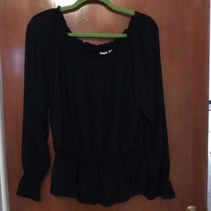 GAP peasant shirt black size XL
